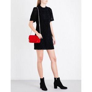 NWT maje Rivina Tunic Dress Velvet Black Diamond